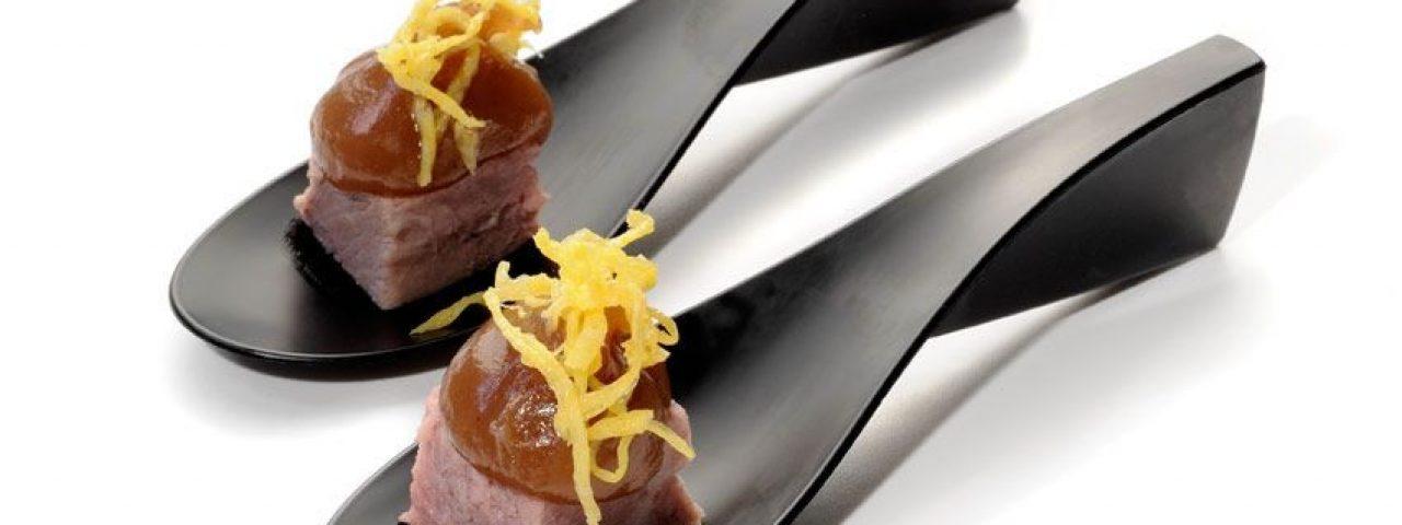 Cucharilla de Toast Beef con Puré de Castaña